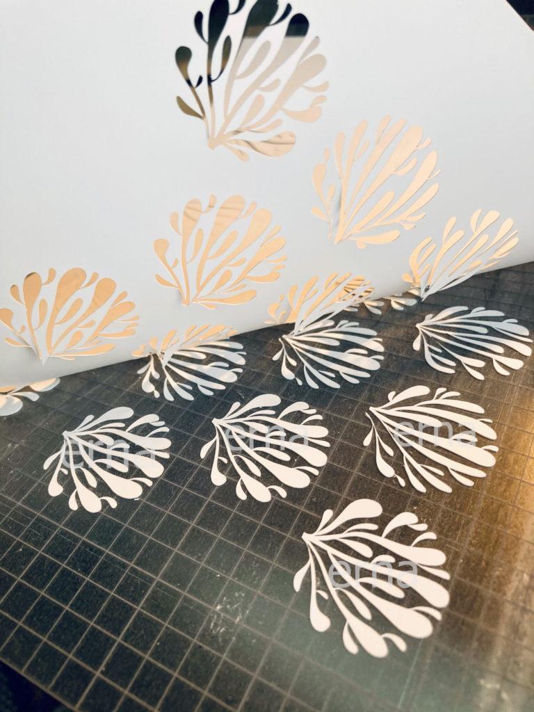 Siebdruck Schablone aus Lossiepapier
